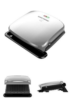 George Foreman 4-Serving Removable Plate Electric Indoor Grill And Panini Press • 37.84£