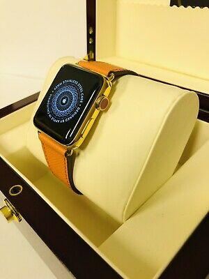 $ CDN516.28 • Buy 24ct Gold Plated 42MM Apple Watch Series 3  + Presentation Box - GPS + Cellular