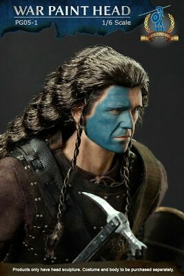 £17.25 • Buy 1/6 Scale Pangaea Toy PG05-01 Scottish General William Wallace Male Head Sculpt