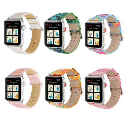 AU17.99 • Buy For Iwatch Series SE 6 5 4 3 2 1Genuine Leather Apple Watch Band 38/40mm 42/44mm