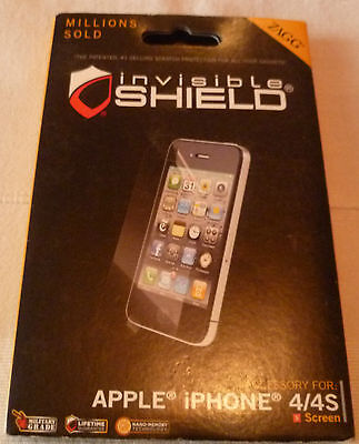 ZAGG InvisibleSHIELD For IPHONE 4 - SCREEN  (1st Class P+p) • 4£