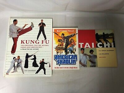 3x Martial Arts Books Kung Fu Guide Tai Chi For Inner Harmony American Shaolin • 9.99£