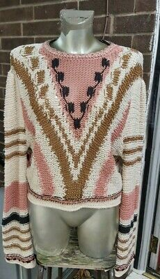 Ladies Free People Slouchy Jumper Knitted (Size Small) Brand New Wi Tags RRP£158 • 45£