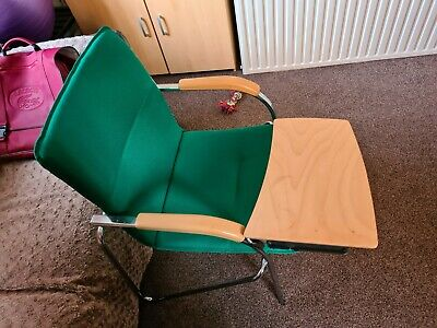 Green Chair With Portable Table Used Excellent For Homework • 15£
