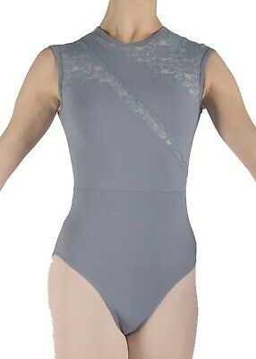 Basilica Grey Karen Lace Leotard Kids Dancewear Size/Age 10 • 14£