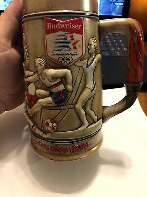 $ CDN10.46 • Buy Budweiser Los Angeles 1984 23rd Olympics Commemorative Collector's Stein 6.5