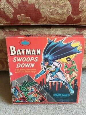 Batman Swoops Down Vintage Board Game 1966 Spears Games - Incomplete • 15£