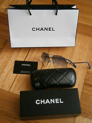 AU161.50 • Buy Like New Chanel 4981tq Aviator Titanium Unisex Sunglasses.made In Italy.