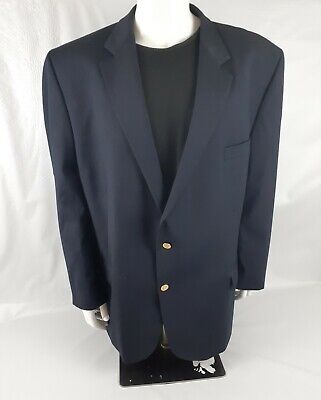 $24.95 • Buy Joseph & Feiss Navy Blue Two Gold Crested Buttons Blazer Sport Coat Size 54
