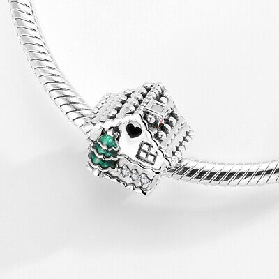 AU29.50 • Buy CHRISTMAS HOUSE S925 Sterling Silver Bead Charm By Pandora's Kings NEW