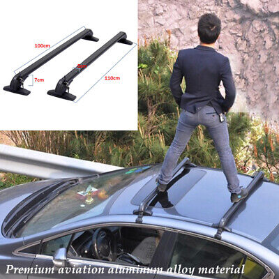 $130.90 • Buy Aluminum Car SUV Roof Rail Luggage Rack Baggage Carrier Cross Stand Anti-theft×2