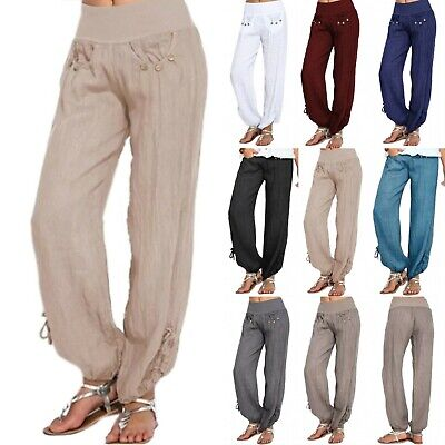 AU19.94 • Buy Womens Yoga Pants Harem Wide Leg Trousers Sports Hippy Casual Loose Plus Size
