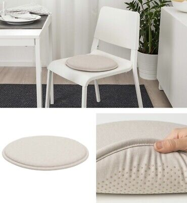 AU21.95 • Buy IKEA Beige Chair Seat Pad Cushion Kitchen Office Dining Patio Chair Washable