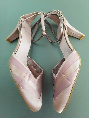 Clarks Ladies New Dusky Pink Satin High Heel Shoes Size 5 Wedding Bridesmaid  • 4.50£