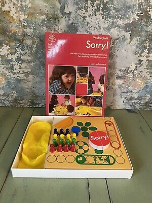 Vintage - SORRY! - Board Game Waddingtons Boxed 100% Complete 1977 • 9.99£