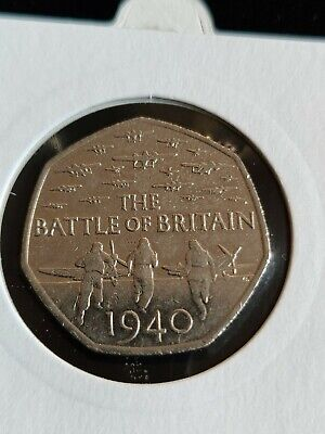 British 50p Fifty Pence Coin Collection 1969 - 2015 Battle Of Britain WWII 🇬🇧 • 3.65£