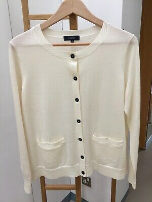 Marks And Spencer Autograph Cardigan Size 16 Cream • 10£
