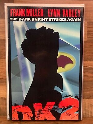 THE DARK KNIGHT STRIKES AGAIN #1 LOGO EDITION Signed By FRANK MILLER (DC Comics) • 95£