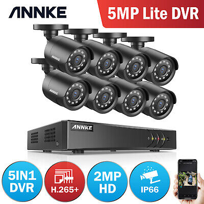 AU359.99 • Buy ANNKE 8CH Channel 5MP Lite DVR 3000TVL Outdoor CCTV Security Camera System 1TB