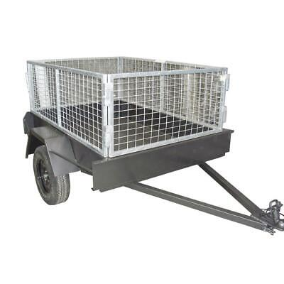 AU950 • Buy 6X4 Box Trailer All Steel + 2ft Galvanized Cage