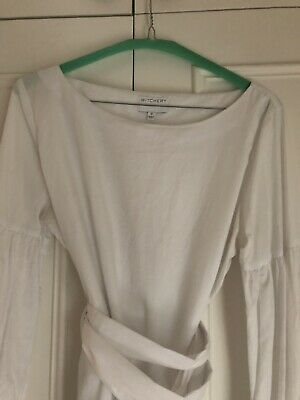 AU10.50 • Buy Witchery White Top Shirt Blouse Size 10 Limited Edition