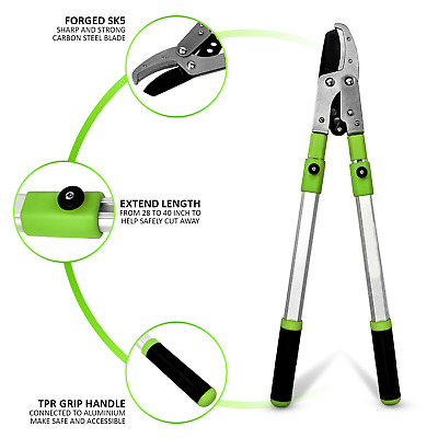 Gardening Telescopic Anvil Lopper Garden Pruner Tree Hedge Pruning Hand Tool • 120.99£