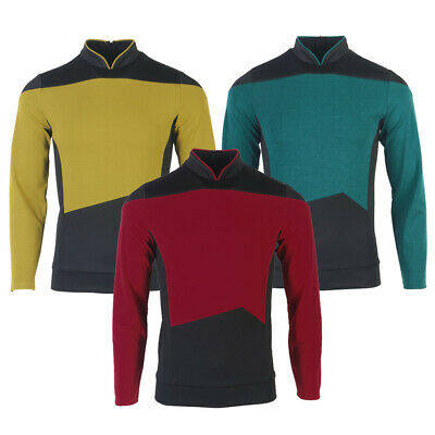 $32 • Buy The Next Generation Picard Red Uniforms TNG Riker Data Gold Blue Shirts Costumes