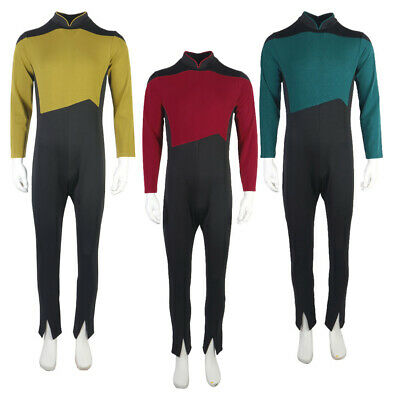 $37 • Buy The Next Generation Picard Red Jumpsuit  TNG Data Gold Blue   Uniforms Costumes