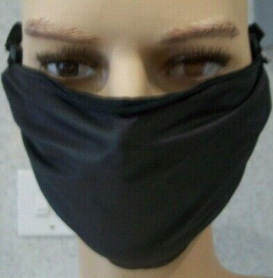 Soft  Leather  Black   Face Mask/covering  New • 13.99£