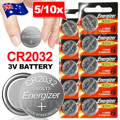AU5.85 • Buy Up10x For ENERGIZER BUTTON COIN CELL CR2032 CR 2032 3v Lithium Battery Batteries