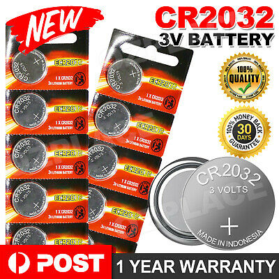 AU5.85 • Buy U 10x For Energizer CR2032 Lithium Coin Cell CR 2032 Button 3V Battery Batteries