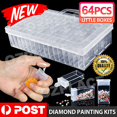 AU15.95 • Buy New 64 Grid Diamond Painting Storage Box Art Nail Bead Accessories Case Kit