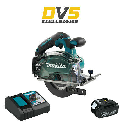 Makita DCS553Z Cordless 18V LXT Brushless 150mm Metal Saw, 5Ah Battery & Charger • 319.95£