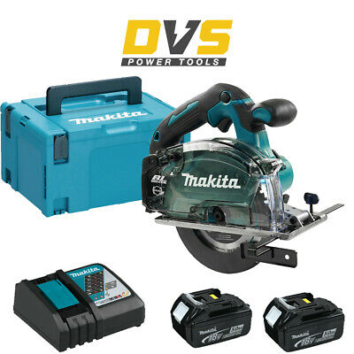 Makita DCS553Z 18V Brushless Metal Saw 150mm 2 X 5.0Ah Batteries Charger & Case • 399.95£
