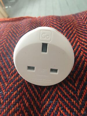 Go Travel UK To Swiss Earthed Adaptor - White • 1.20£