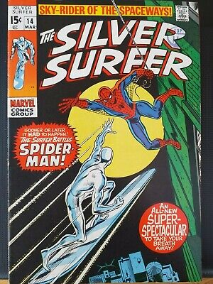 Marvel Comics  Silver Surfer  Vol 1 No 14 Mar 1970 First Print (FN/VF) • 7.60£