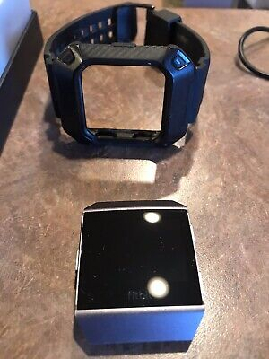 $ CDN65.75 • Buy Fitbit Ionic Smartwatch 3 Bands 2 Chargers Charcoal/Smoke Grey Gently Used