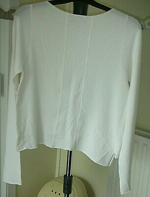 NEW SARAH PACINI White Jumper, Top, Sweater, Knit - One Size - Made In Italy  • 60£