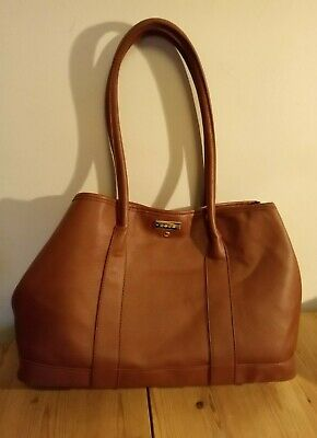BNWOT Bebe Brand Tan Brown Leather Look Shoulder Bag PVC Medium-Large Women's • 0.99£
