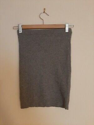 Primark Grey Knitted Skirt Size 8 Womens Clothing • 5.95£