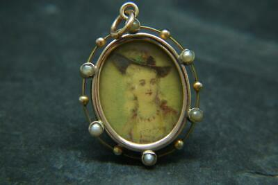 Best Antique Victorian Edwardian 9ct Gold & Seed Pearl Locket Pendant/Charm • 4.60£