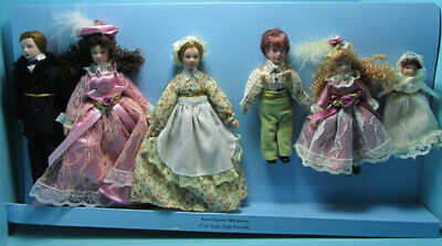 $ CDN65.91 • Buy Dollhouse Miniature Porcelain Victorian Extended Family 6 Dolls G7651