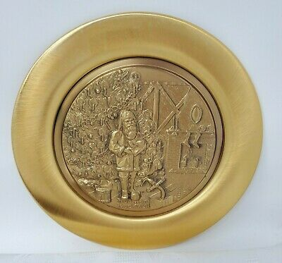 $ CDN31.54 • Buy 1976 Norman Rockwell Gold Plated Christmas Plate