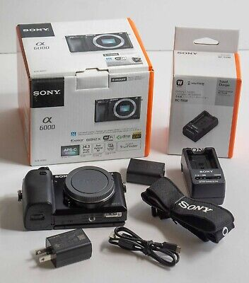 $ CDN473.08 • Buy Sony Alpha A6000 Camera Body Only With Battery, Charger, Cap, 32GB Card Box EX++
