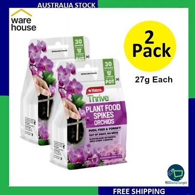 AU37.99 • Buy 2 X Yates Thrive 27g Plant Food Spikes Orchids Free Shipping