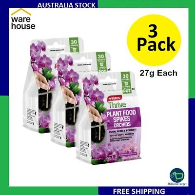AU56.99 • Buy 3 X Yates Thrive 27g Plant Food Spikes Orchids Free Shipping