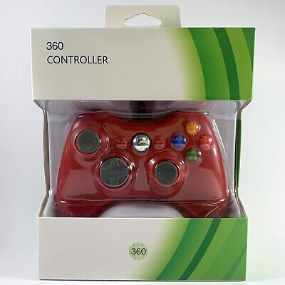 AU20.90 • Buy Xbox 360 Wired USB Controller RED For Microsoft Xbox 360 & Windows PC *NEW*