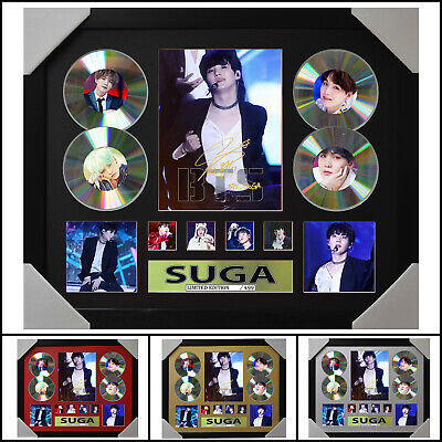 AU93.50 • Buy BTS SUGA Signed Framed Memorabilia Limited Ed 4CD - Multiple Variations