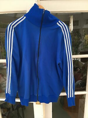 Adidas West Germany/yugoslavia Vintage Retro Track Top Jacket Blue • 60£
