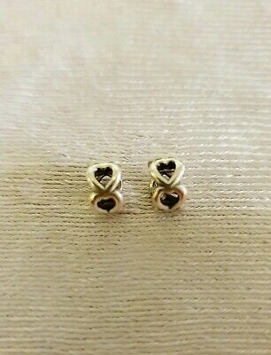 AU25 • Buy Pandora Spacer Charms Sterling Silver Hearts
